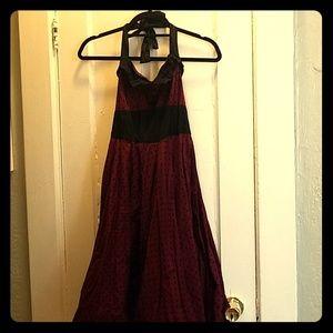 Hell Bunny Red Polka Dot Swing Dress